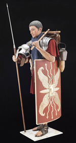Costume de légionnaire romain restauré