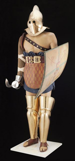 Costume de gladiateur restauré