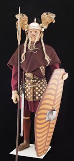 Costume de chef gaulois restauré