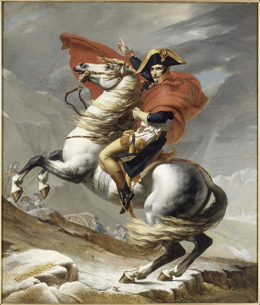 MA BC canons col grd st bernard Quand Napoléon franchissait les Alpes