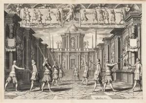 Thibault dAnvers pl. 9 300x213 Académie de l'Espée, par Girard Thibault d'Anvers : un traité d'escrime hors norme !
