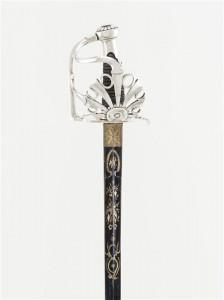Sabre d'honneur pour la cavalerie, Nicolas-Noël Boutet, Manufacture de Versailles Vers 1800 Argent, métal, galuchat © Paris - Musée de l'Armée, Dist. RMN-Grand Palais / Emilie Cambier
