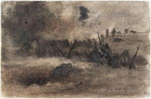 14 526570 300x197 « Quelques feuillets arrachés au carnet de guerre d'un artiste inconnu » : Georges Victor Hugo
