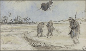M502501 19365 13 P 300x179 « Quelques feuillets arrachés au carnet de guerre d'un artiste inconnu » : Georges Victor Hugo