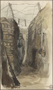 M502501 19365 14 P 179x300 « Quelques feuillets arrachés au carnet de guerre d'un artiste inconnu » : Georges Victor Hugo