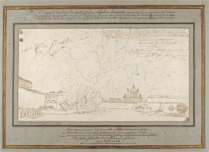 03196 300x219 Napoléon dessinateur ? Analyse de l' « Explosion d'un bastion à la porte de Carinthie à Vienne, en 1809 »