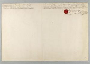 093196 verso 300x216 Napoléon dessinateur ? Analyse de l' « Explosion d'un bastion à la porte de Carinthie à Vienne, en 1809 »