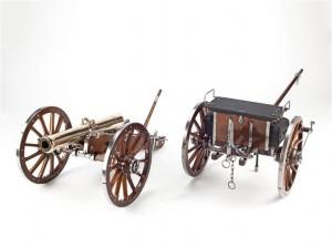 Modèle de voiture-pièce de canon de campagne russe