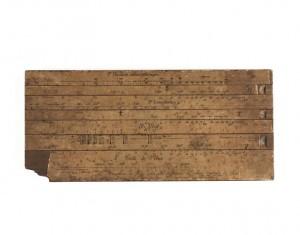 14 528633 300x235 Nouvelle acquisition au musée de l'Armée : une réglette de correction d'artilleur de la Grande Guerre