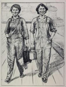 15 606001 228x300 Gravures d'Hartrick prêtées à Antony, pour l'expo « Guerre 14 18. Le travail des femmes »