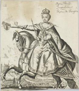 L'impératrice Marie-Thérèse d'Autriche en reine de Hongrie
