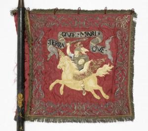 Etendard du régiment Penthièvre-cavalerie, avers. Collection privée.
