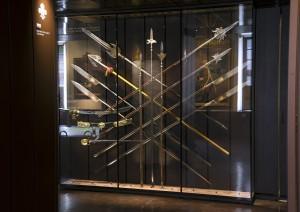 Vitrine CIRCAR14, salles du département Moderne.