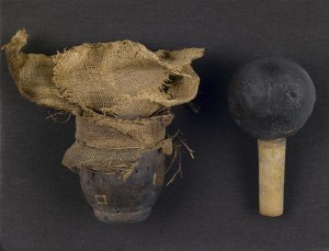 Grenade à fusil avant restauration