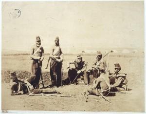 Roger Fenton, groupe de chasseurs d'Afrique, 1855