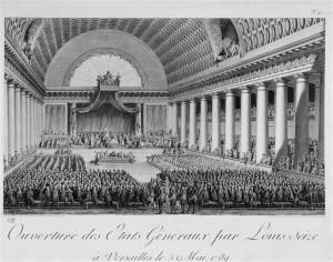 Ouverture des états généraux par Louis XVI à Versailles le 5 mai 1789
