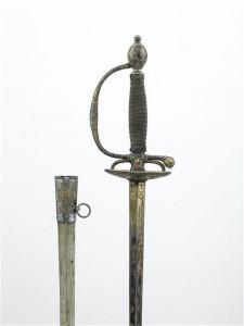 Epée de récompense royale, 1789