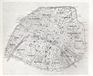 Carte 300x244 1914 1918, Paris bombardée… par lartillerie [3/3]